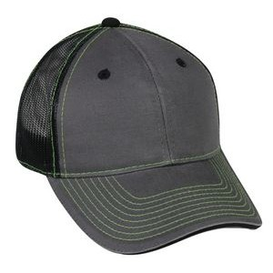 Sandwich Visor with Hook/ Loop Tape Closure Mesh Back Cap